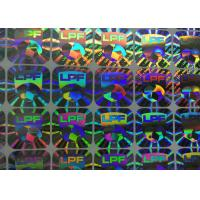 China Holographic Security Custom Business Stickers Water Proof Gloss Laminated on sale