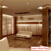 Quality High end modern mdf painting rose s/s clothes shop interior design furniture for sale
