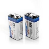 China 600 Mah 9v Lithium Ion Rechargeable Cell Batteries Deep Cycle For Smoke Detectors on sale