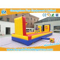 Buy Outside Inflatable Sport Games Inflatable Tug Of War With Basketball Court at wholesale prices