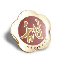 China Factory custom metal badge brooch brooch logo frosted lacquer enamel adhesive craft badge custom on sale