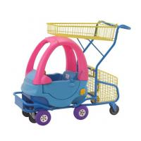 Quality Plastic Kids Grocery Cart Childrens Shopping Trolley Supermarket  Steel Toy Car for sale