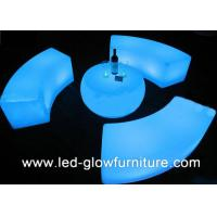 Quality Polyethylene Plastic Illuminated led bar stool and Rechargeable Lighting table for sale