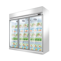 Buy cheap Commercial 1 2 3 4 Doors Drinks Refrigeration Showcase With Digital Thermostat from wholesalers