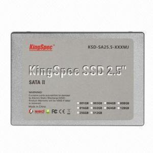 China 2.5-inch SATA 64GB MLC SSD/External Hard Drive, 140/128MB/Second R/W Speed, 5V ±5% Voltage on sale