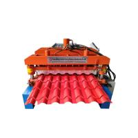 Buy Bamboo Glazed Roof Tile Roll Forming Machine Metal Steel Step Tile Making at wholesale prices