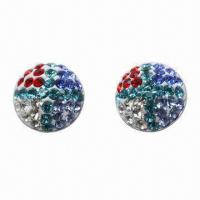 Quality Stud Earring, Made of 925 Silver Post with Crystal Material for sale
