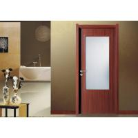 Quality PVC Vinyl MDF Wood Doors frosted glass with frame Fir Wood Skeleton Max Width 1100mm for sale