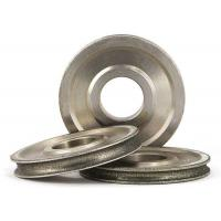 Quality Diamond Coated Abrasive Grinding Wheel For 3 - 12mm Glass Round N Straight Edge for sale