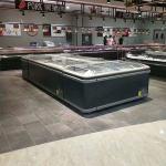 Quality Automatic Defrost Open Top Chest Supermarket Freezer Island Freezer Sliding Glass Door for sale