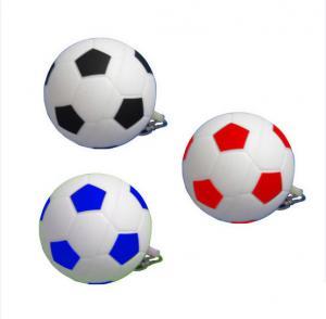 China Football  Plastic USB Flash Drive , 2 Gig 32 Gig Memory  Soccer USB Flash Drive Office School Supply With Keyring on sale