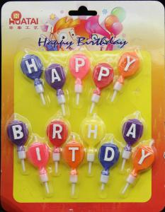 Buy cheap Balloon Shaped Personalized Letter Birthday Candles Happy Birthday Word from wholesalers
