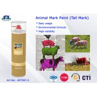 Quality Fast Drying Waterproof Spray Animal Mark Paint for Pig / Sheep / Horse Tail Purple Red Green for sale