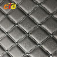 China Embroidery PVC leather with Foam with Non-woven for Car Seat for Car floor on sale