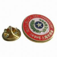Buy cheap Epoxy Metal Pin, 0.3 to 1.5mm Thickness, Die-cast, Electroplated, Customized from wholesalers