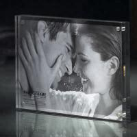 Buy cheap Commercial Custom Clear 2 Sided Acrylic 2x3 Picture Frames 3x4 Picture Frame from wholesalers