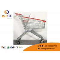 China Zinc Plated Four Wheel Shopping Trolley Large Dimension Shopping Cart Trolley on sale