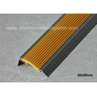 ... Buy Non Slip Aluminum Stair Nosing , Metal Stair Nose Trim With Insert  PVC Rubber At ...