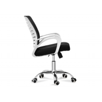 Quality Conference Visitor Reception Middle Back Ribbed Office Chair for sale