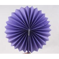 Quality Purple Paper Luxury Paper Accordion Lanterns / Balls With Round Shaped for sale