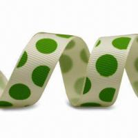 China Polka Dots Printed Ribbon, Suitable for Garments, Personalized Specifications are Welcome on sale