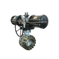 Quality Electric Actuator Triple Wafer Type Butterfly Valve ASTM A216 WCB ASTM CF8M for sale