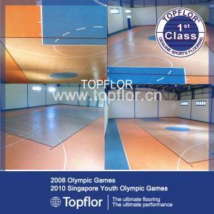 Portable plastic indoor basketball court sports flooring