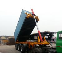 Quality Steel 20ft Skeleton Tipper Semi Trailer / Flatbed Tri Axle Container Chassis for sale