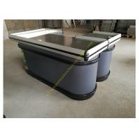 Quality Oval Shape Cashier Checkout Counter With LED Light / Electric Money Counter for sale