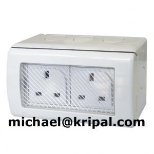 Quality waterproof double socket for sale