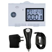 Quality USB Battery Operated Carbon Monoxide Alarm Detector With Clock Function for sale