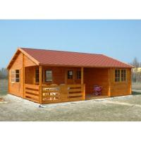 Quality One Floor Outdoor Wooden House In 36mm 72mm 110mm Wall thickness for sale
