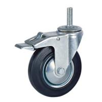 Quality Rubber caster with brake for sale