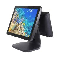 Quality Aluminum Dual Touchscreen Tablet Pos System , Fanless Cpu Motherboard Liquor Store Pos System for sale