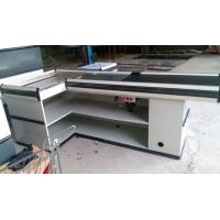Buy Custom Stainless Steel Table Surface Supermarket Electric Cash Counter at wholesale prices