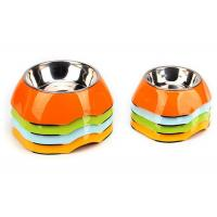Quality Two Size Multi Color Cool Pet Bowls , A5 Melamine With Anti Slip Pet Dishes Bowls for sale