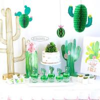 Buy New Cactus Watermelons Shaped Paper Honeycomb Balls Tissue Paper Decorations at wholesale prices