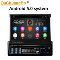 Quality Ouchuangbo car radio android 6.0 system for universal Retractable radio with gps navi 1080 video reverse camera wifi BT for sale