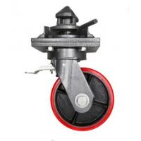 China Cast Iron Shipping Container Wheels With Twist Lock Tread Color Customized on sale