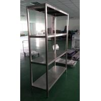 Quality Dismountable Kitchen Storage Stainless Steel Display Racks with 4 round tube legs for sale
