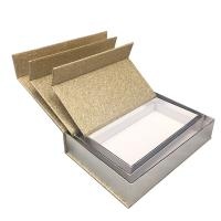 China Luxury Magnetic Xmas Gift Boxes With Lids Gold Glitter Paper Custom Size on sale