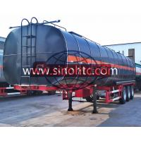 Quality 3 Axle Bitumen Tank Semi Trailer 50000 Liters / Customized Tank Volume for sale