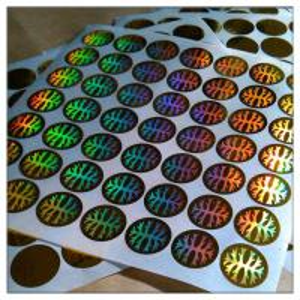 Hologram Security Labels Laser Holographic Labels,Dot-Matrix holographic label,Laser Holographic Sticker
