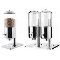 Quality Dry Food Catering Buffet Equipment , Single And Double Stainless Steel Cereal Dispenser for sale