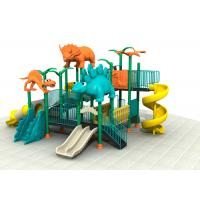 Quality Dinosaur Style Kids Outdoor Playground Equipment With Brilliant Colors 24CBM for sale