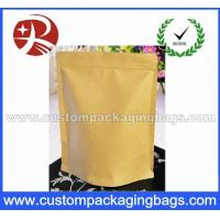 Quality Heat Sealing Ziplock Kraft Paper Coffee Packaging Bags With Valve for sale
