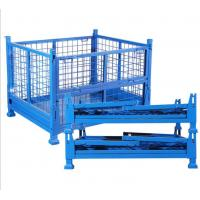 Quality Durable Collapsible Wire Container Transport Packaging Metal Pallet Cage Four Wire Mesh for sale