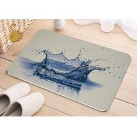 Quality Printing Anti-Bacterial Absorbent Non Slip Area Rugs , Non Slip Floor Area Mat Rugs for sale