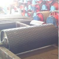 Quality 10000 mm length diamond rubber lagging roll for conveyor pulley for sale