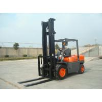 Quality 4 Wheel Diesel Forklift Truck 5 Ton 2240mm Turning Radius With Pneumatic Solid Tyre for sale